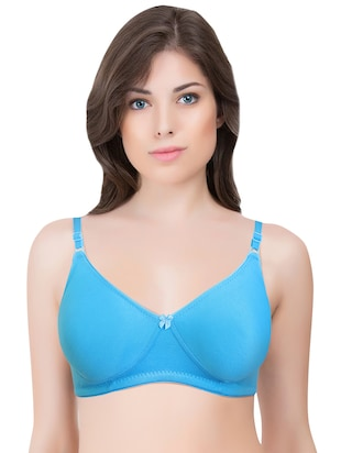 set of 3 multi colored cotton bra - 14899469 - Standard Image - 4