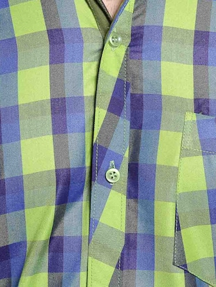green cotton casual shirt - 14899937 - Standard Image - 4
