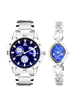Adamo Designer Analog Couple Combo Wrist Watch 108-2455SM05 -  online shopping for Men Watch Combos