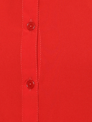 solid red casual shirt - 14900632 - Standard Image - 4