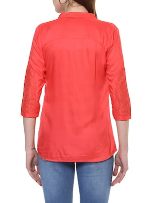 solid red top - 14900638 - Standard Image - 4