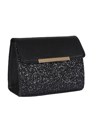 black leatherette sling bag - 14900744 - Standard Image - 4