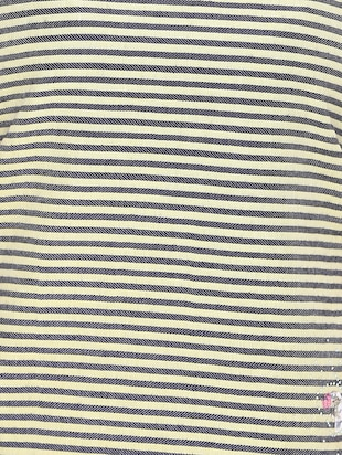 black striped georgette tee - 14902274 - Standard Image - 4