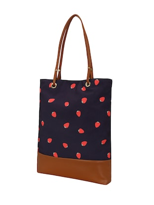 blue canvas regular shopping bag - 14902958 - Standard Image - 4