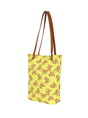 yellow canvas regular tote - 14903384 - Standard Image - 4