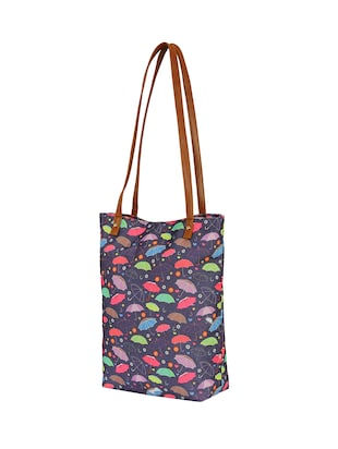 purple canvas regular tote - 14903387 - Standard Image - 4