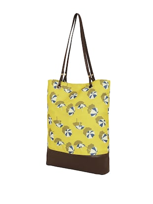 yellow canvas regular tote - 14903390 - Standard Image - 4