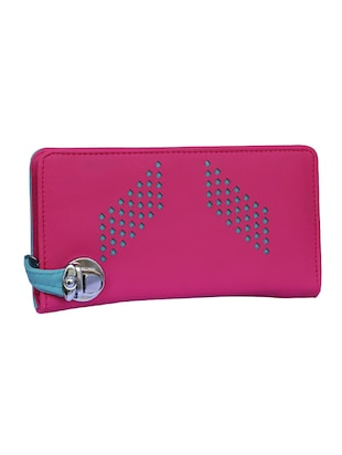 pink leatherette clutch - 14903432 - Standard Image - 4