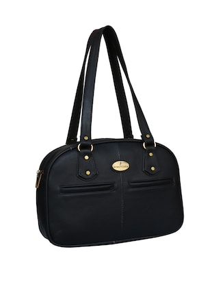 black leatherette regular handbag - 14903449 - Standard Image - 4