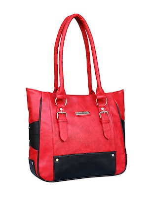 red leatherette  regular handbag - 14903451 - Standard Image - 4