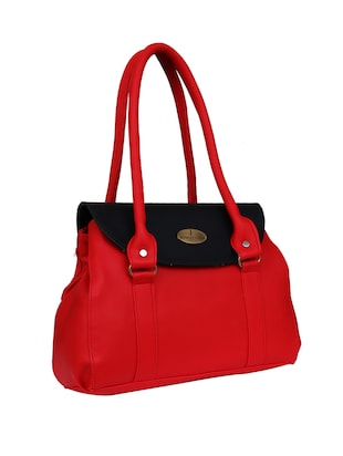 red leatherette  regular handbag - 14903455 - Standard Image - 4