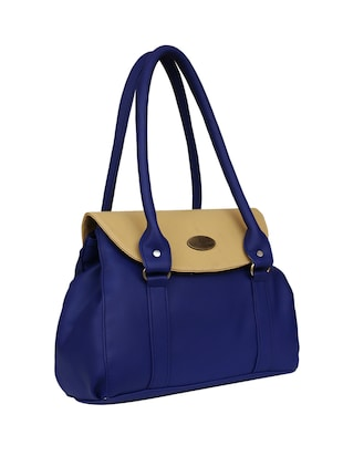 blue leatherette regular handbag - 14903459 - Standard Image - 4