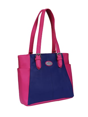 blue leatherette  regular handbag - 14903462 - Standard Image - 4