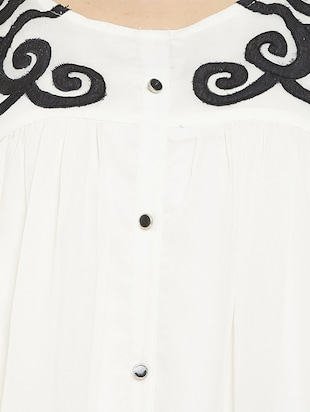 white solid a-line dress - 14904856 - Standard Image - 4