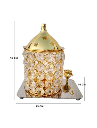 Decorate India Brass Crystal 3D Kit Akhand diya 6.2 inch - 14905108 - Standard Image - 4