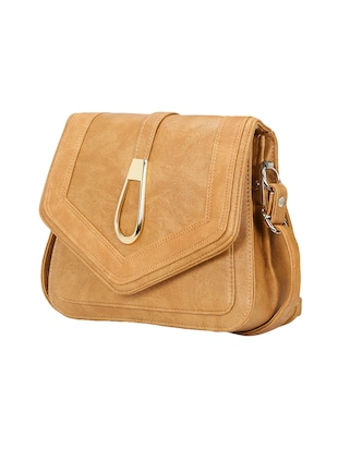 beige leatherette  regular sling bag - 14905670 - Standard Image - 4