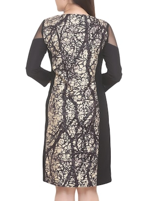black printed a-line dress - 14905675 - Standard Image - 4