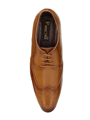 tan leatherette lace-up derby - 14908068 - Standard Image - 4