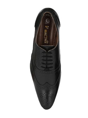 black leatherette lace-up brouge - 14908069 - Standard Image - 4