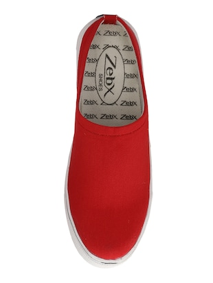 red Canvas slip on mules - 14908783 - Standard Image - 4