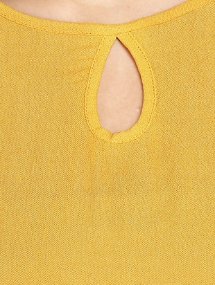 solid yellow full sleeved top - 14912492 - Standard Image - 4