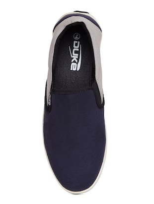 navy Canvas casual slipon - 14912587 - Standard Image - 4