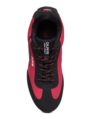 red leatherette sport shoe - 14912637 - Standard Image - 4