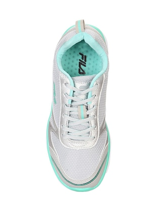 grey mesh laceup sports shoes - 14912733 - Standard Image - 4