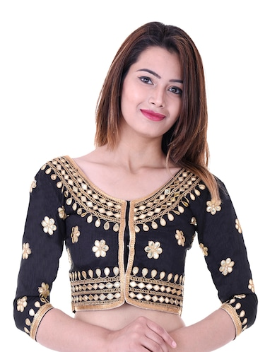 21da1f92c31f94 Buy Multi Thread Embroidered Blouse for Women from Dhandai Fashion ...