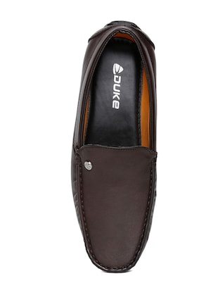 brown leatherette office wear loafer - 14912939 - Standard Image - 4
