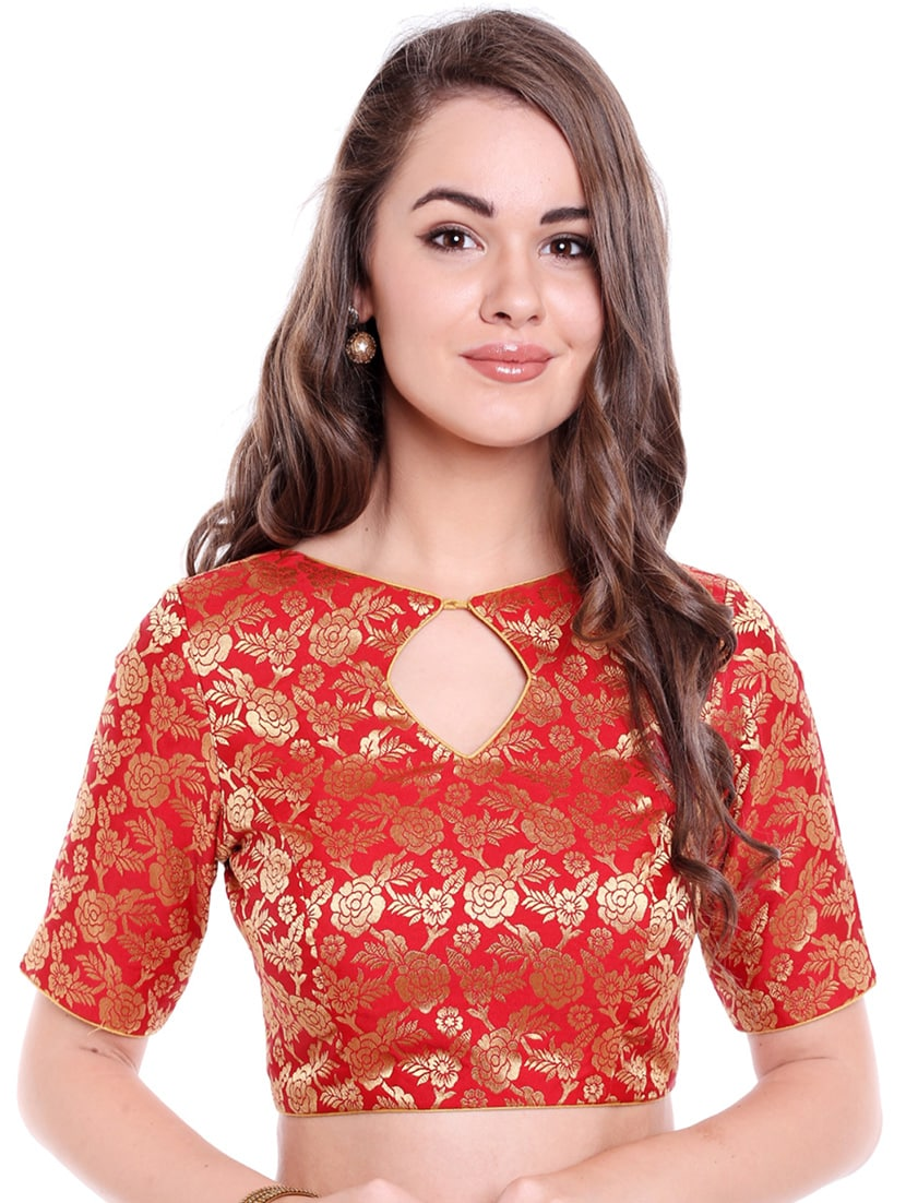 2fbd82554b36df Buy Red Art Silk Brocade Blouse for Women from Arch Element for ₹2558 at  36% off