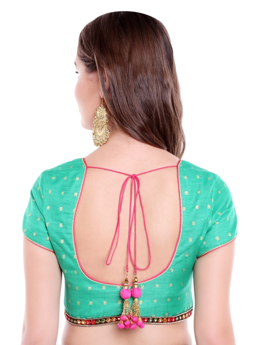 240bf7d96ba3b Buy Green Art Silk Woven Blouse for Women from Arch Element for ₹2518 at 37%  off