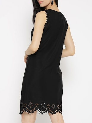 solid black sheath dress - 14915960 - Standard Image - 4