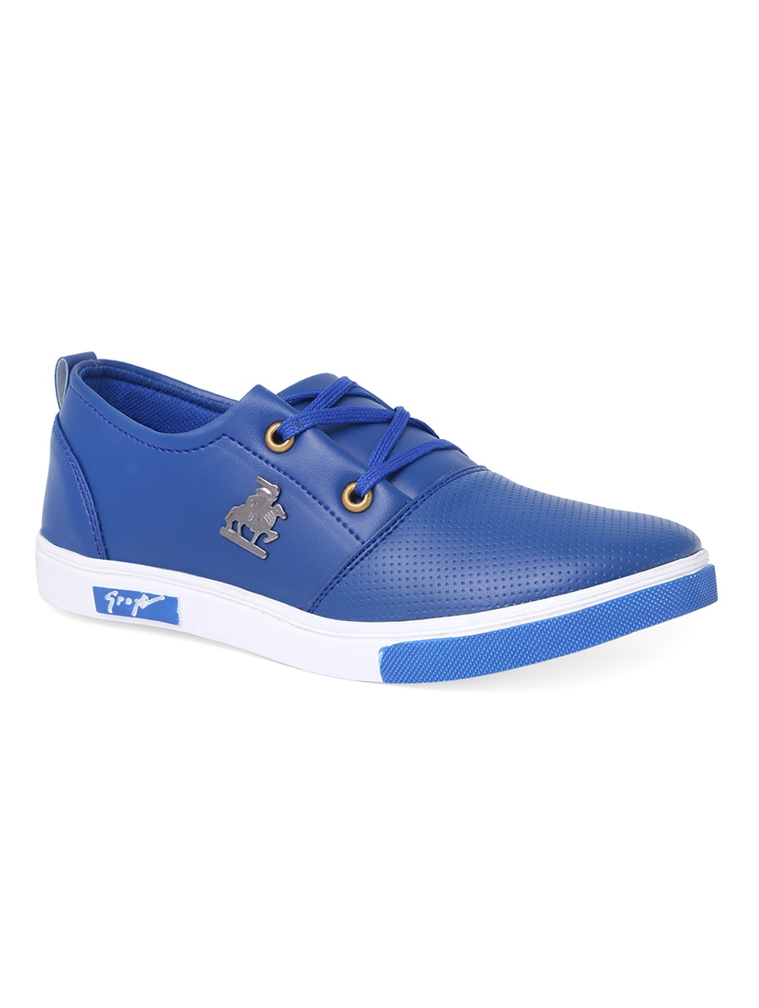 6afded8eb Buy Blue Leatherette Lace Up Sneaker for Men from Shoemate for ₹500 at 50%  off | 2019 Limeroad.com