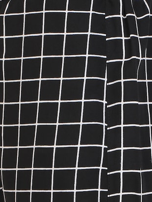 black checkered crepe palazzo - 14918957 - Standard Image - 4