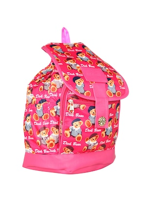 Pink leatherette fashion backpack - 14919860 - Standard Image - 4