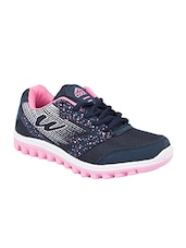 navy mesh laceup sports shoes -  online shopping for Sports Shoes