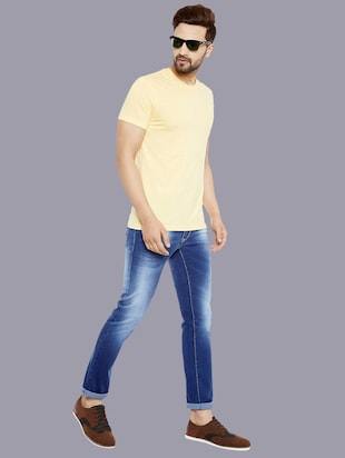 blue denim washed jeans - 14920942 - Standard Image - 4