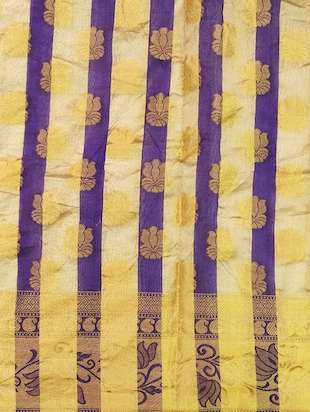 purple art silk woven saree with blouse - 14921161 - Standard Image - 4