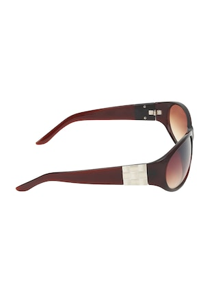Zyaden Brown Oval sunglasses for women 417 - 14923959 - Standard Image - 4