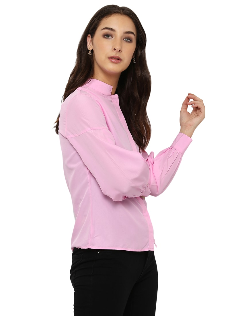 3e5d2b0f2 Buy Miway Women's American Crepe Pink Solid Shirt for Women from Miway for  ₹1109 at 3% off | 2019 Limeroad.com