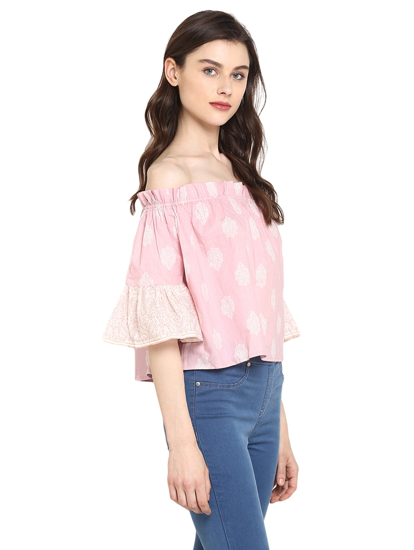 37f38d39539 Buy Miway Cotton Pink Printed Top for Women from Miway for ₹727 at 52% off