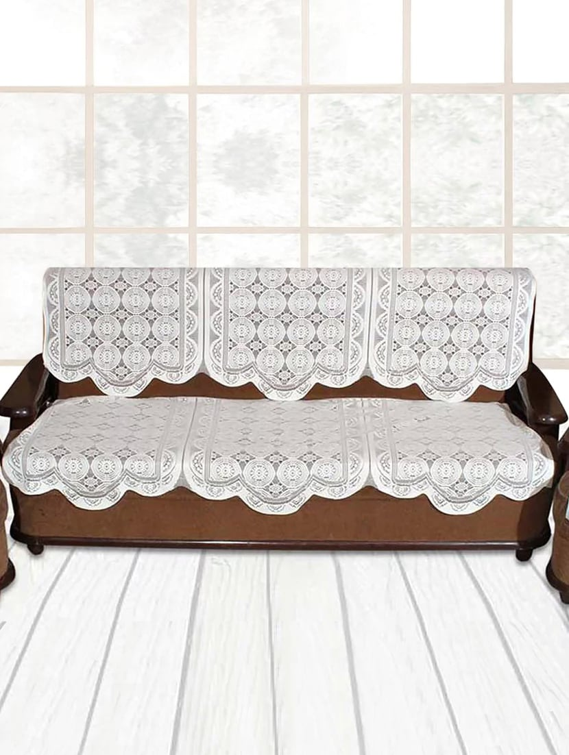 3 Seater White Knitting Sofa Cover By Vivek Homesaaz Online Ping For Covers In India 14925493