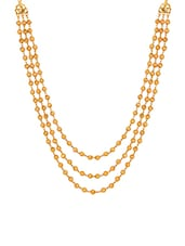 gold brass long necklace -  online shopping for Necklaces