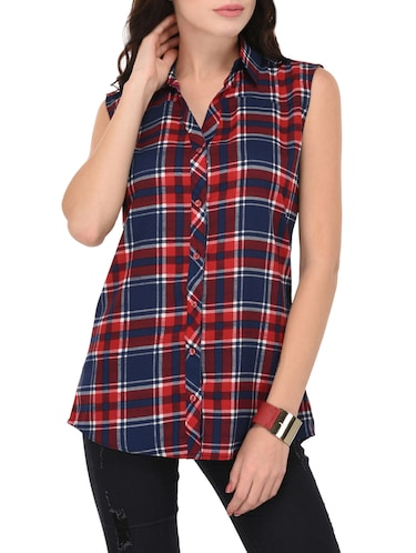 red & blue checkered shirt - 14928992 - Standard Image - 1