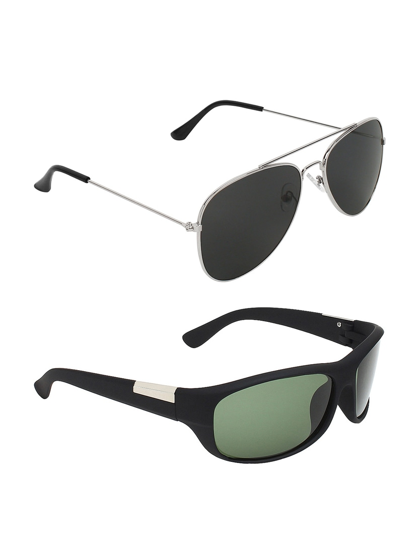 b8a449ed137 Buy Abner Combo Of Aviator   Wrap Around Sunglasses by Abner - Online  shopping for Men Sunglasses in India