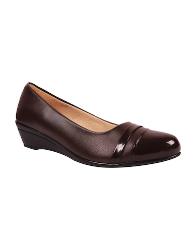brown leatherette slip on formal shoes - 14931442 - Standard Image - 1