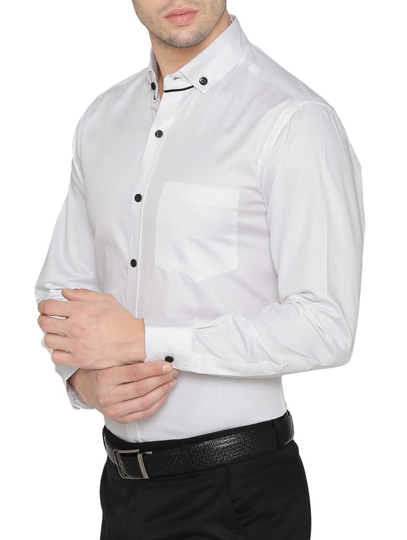 475bd1cd7db Buy White Cotton Formal Shirt for Men from Dazzio for ₹993 at 33% off