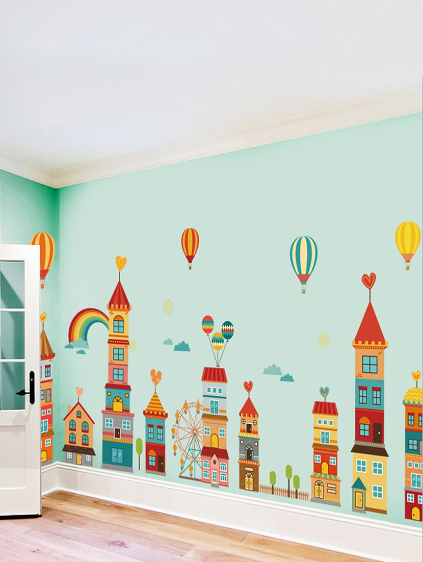 Buy Wall Stickers Kids Room Extra Large Castle Cartoon Decorations  Kindergarten Corridor Bedroom By Stikerskart   Online Shopping For Wall  Decor In India | ...