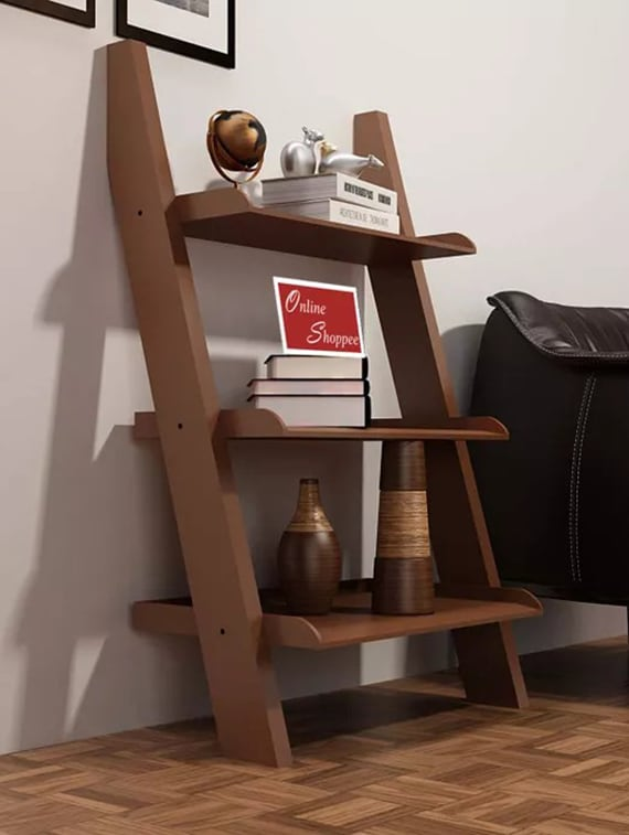 Buy Bookcase Ladder And Room Organizer Engineered Wood Wall Shelf by Onlineshoppee - Online shopping for Wall Shelves in India | 14948543 & Buy Bookcase Ladder And Room Organizer Engineered Wood Wall Shelf by ...